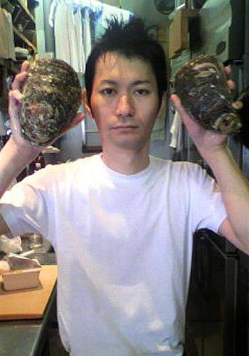 平さんと岩ガキ