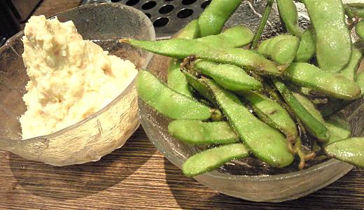 ポテトサラダ、枝豆