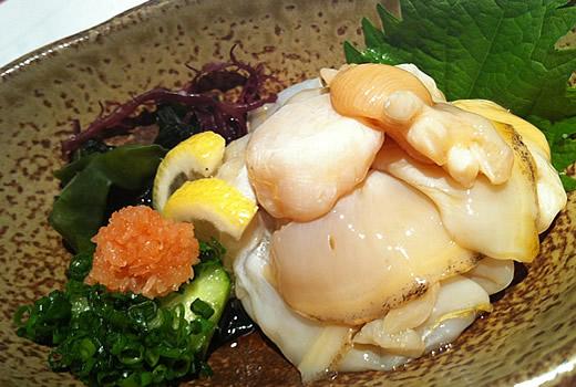 タイラギ貝のひもポン酢