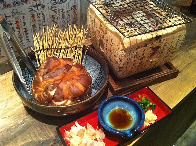 ジャンボ椎茸焼き