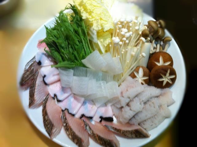 魚介のシャブシャブ