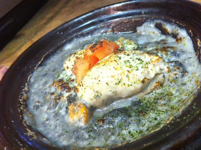 イカ墨牡蛎グラタン